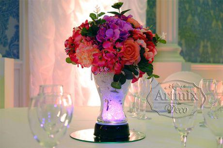 Классические вазы с подсветкой