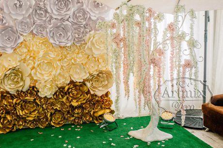 Оформление свадьбы для фото сессии
