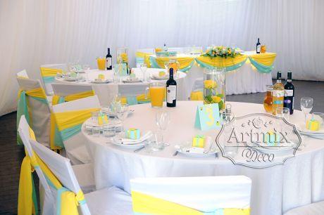 Оформление шатра на свадьбу в цвете и стиле Тиффани