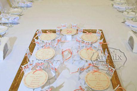Схема рассадки гостей для свадьбы