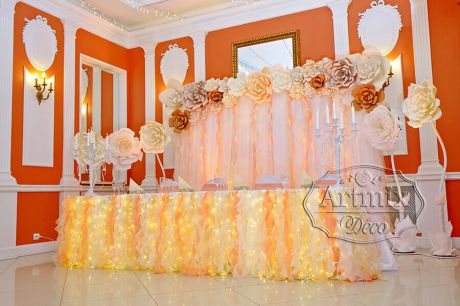Оформление свадьбы в ресторанном комплексе Праздник