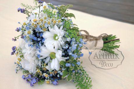 Букет для невесты на свадьбе в стиле Рустик