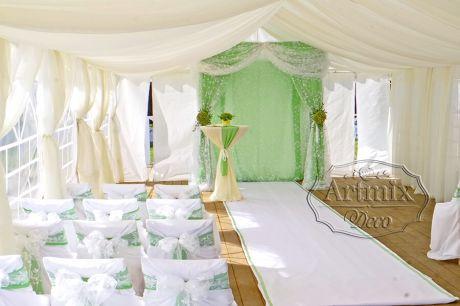 Оформление выездной свадьбы в загородном банкетном комплексе Пушкинская Усадьба