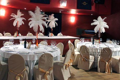 Зал для свадебного торжества в стиле Гэтсби