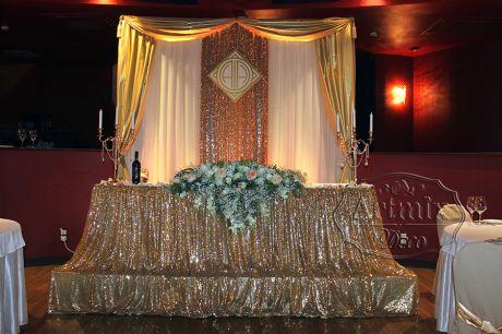 Свадебный президиум в стиле Гэтсби