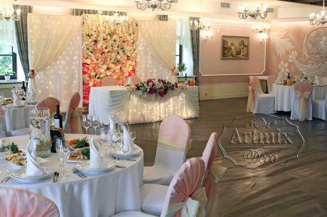 Оформление зала на свадьбу в ресторане Баязет