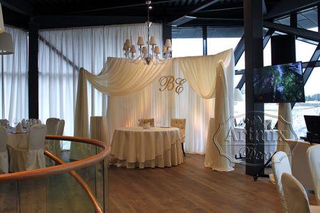 Оформление свадебного зала в ROYAL BEACH
