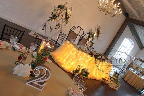 Оформление свадебного зала в стиле Лофт ресторана Весенний